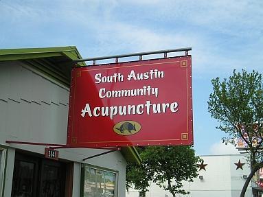 The original South Austin Community Acupuncture clinic location on South Lamar Blvd., Austin, Texas.